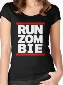 run zombie Women's Fitted Scoop T-Shirt
