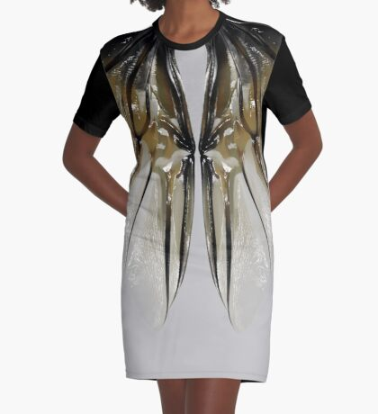 Insect Wings Graphic T-Shirt Dress
