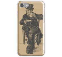 Old Man Drinking Coffee The Hague, November Vincent van Gogh  iPhone Case/Skin