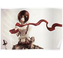 mikasa ribbon Poster