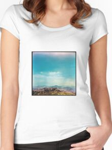 Dirty Landscape - Enna, Sicily. Women's Fitted Scoop T-Shirt