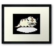 8-bit Appa on a Cloud Framed Print