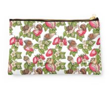 Happy snails and strawberries Studio Pouch