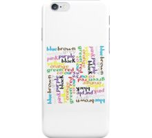 English colour words IV iPhone Case/Skin