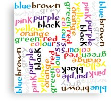 English colour words IV Canvas Print