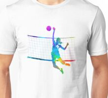 Woman volleyball player in watercolor Unisex T-Shirt