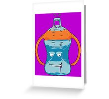 Thug Mane Sippy Cup Greeting Card