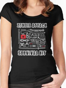 Zombie Survival Kit Women's Fitted Scoop T-Shirt