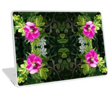 Pink Rose with a Bee Laptop Skin