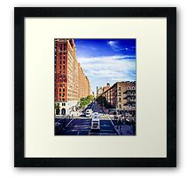 Looking down from The Highline, 2 Framed Print