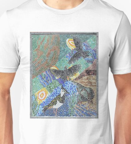 Seaside bird mosaic pattern Unisex T-Shirt