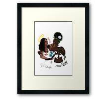 Karma & Nature Laughing at our problems since day one Framed Print