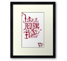 Amusing metaphors Framed Print