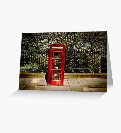 Red Phone Box  Greeting Card
