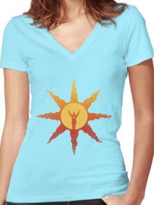 Praise the Sun! Women's Fitted V-Neck T-Shirt