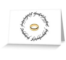 The One Ring. Greeting Card
