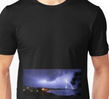 Lightning over Moffat Beach Unisex T-Shirt