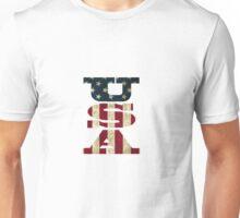USA Flag Letters Unisex T-Shirt