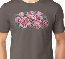 Peonies and roses. Unisex T-Shirt