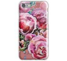 Peonies and roses. iPhone Case/Skin