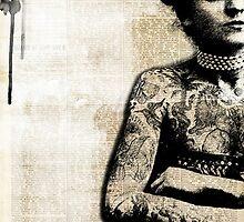 Vintage Ink - Tattooed Lady by sissysparrows