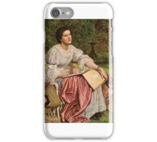 William Holman Hunt - lady iPhone Case/Skin