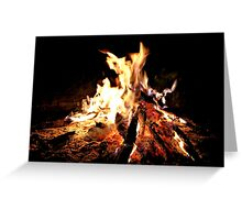An Open Camp Fire in Africa Greeting Card