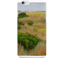 William Meritt Chase, Landscape near Coney Island  iPhone Case/Skin
