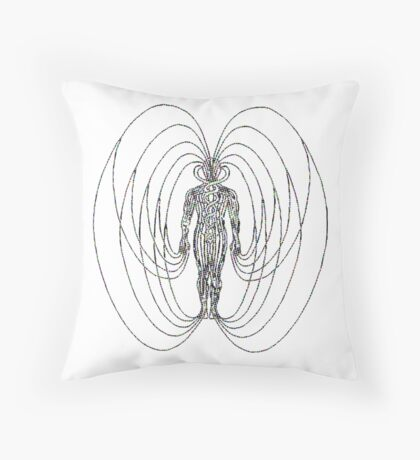 Magnetic Humano IIIII Throw Pillow