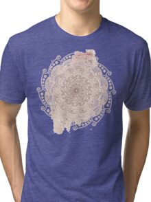 Flowers round ornament Tri-blend T-Shirt