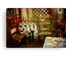 Crooked Chair at the Corner Table Canvas Print