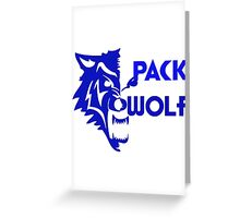 Pack Wolf  Greeting Card