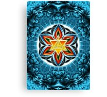 Merkaba, Flower Of Life, Metatrons Cube, Sacred Geometry Canvas Print