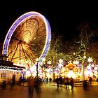 Leicester Square Christmas Fair by Ludwig Wagner
