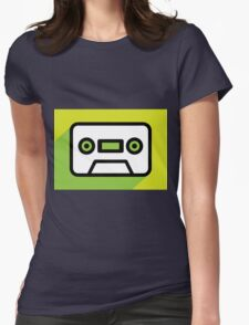 Audio tape icon Womens Fitted T-Shirt
