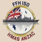 HMAS Anzac by Mil Merchant