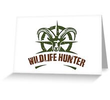 Wildlife Hunter Greeting Card