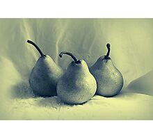 Three Pears Photographic Print