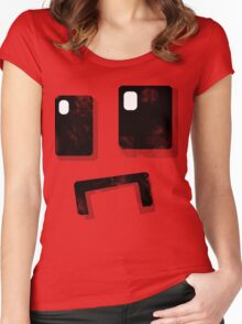 Simplistic Face Women's Fitted Scoop T-Shirt