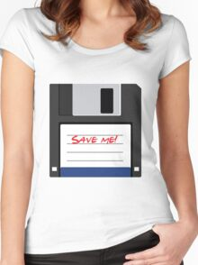 Flat floppy disk icon Women's Fitted Scoop T-Shirt