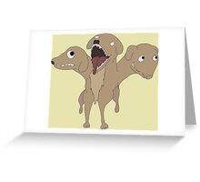 Cute Dumb Cerberus Greeting Card