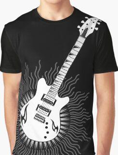 Tribal Sun Guitar Graphic T-Shirt