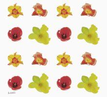 Tulipes sur fond blanc Kids Tee