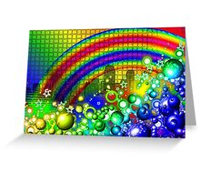 Rainbow Splash City  Greeting Card