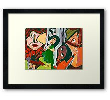 The Woman Smoking A Cigarette Framed Print
