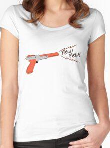 Cute Nes gun Women's Fitted Scoop T-Shirt
