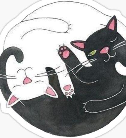 Tumblr Cat Yin Yang Sticker