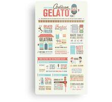 Artisan Gelato Infographic Poster Metal Print