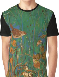 Winter Glimpse - Wren and Physalis Graphic T-Shirt