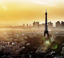 Eiffel Tower Sunset by saaton